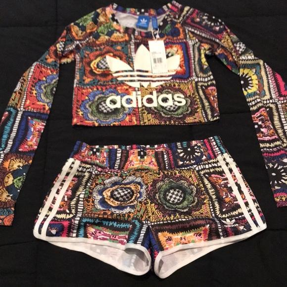 a pies en desigual en el rendimiento 100% autenticado adidas Other   Crochita Top And Shorts   Poshmark